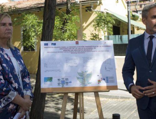 Spanish authorities visit the REZBUILD Project demo site in Madrid